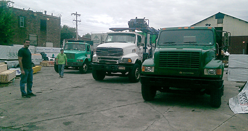Our fleet of delivery trucks